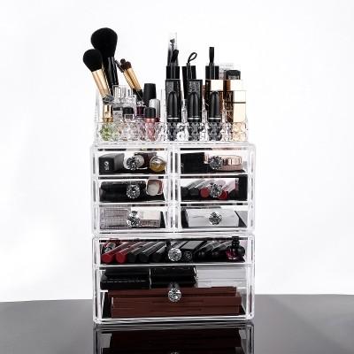Acrylic Cosmetic Organizer Multiple Display Makeup Box Case