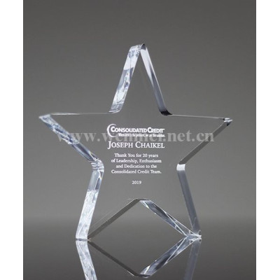Customized Acrylic Awards Trophy  For European And American Fashion