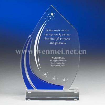 2019 Customized Shape Engraving Acrylic Awards Acrylic Trophy