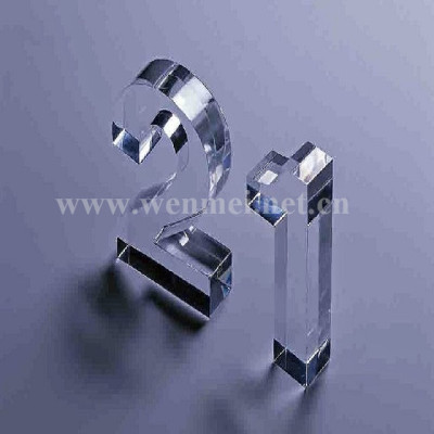 Acrylic digital alphabet crystal Trophy medal employee award competition Anniversary business gift souvenir