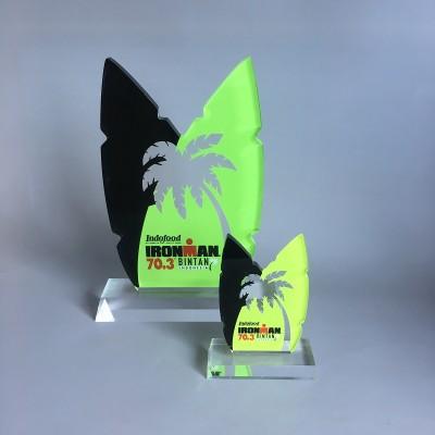 Factory Laser Cutting Printed Custom Shaped Acrylic Awards