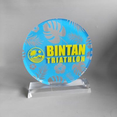 High quality Custom Shaped Acrylic Awards Trophy