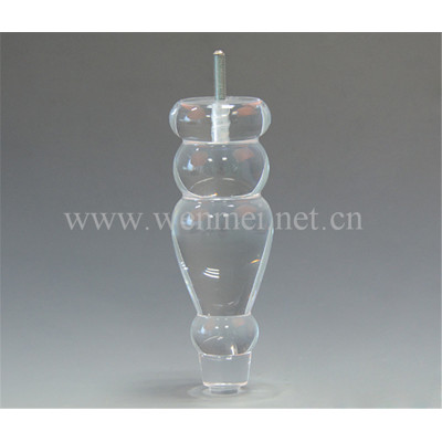 Custom Clear Acrylic Legs For Furniture, Table Legs, Bench Legs