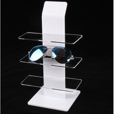 Morden Acrylic Glasses Display Stand,Clear top grade Sunglass Retail Stand
