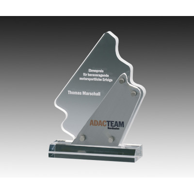 High quality transparent trophy acrylic