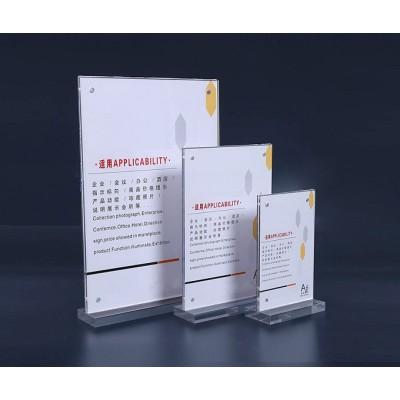Acrylic T-shaped cards