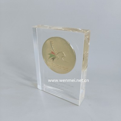 2019 Hot Sales clear acrylic paperweight