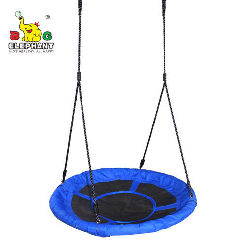Soft 40 inch Outdoor Kid Foldable Saucer Round Mat Platform Tree Swing For Baby