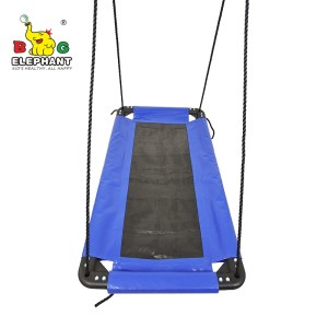 Soft Deluxe Rectangle Hanging Large Platform Mat Swing For Kids