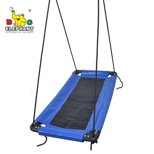 Soft Deluxe Rectangle Hanging Large Platform Mat Swing For Kids