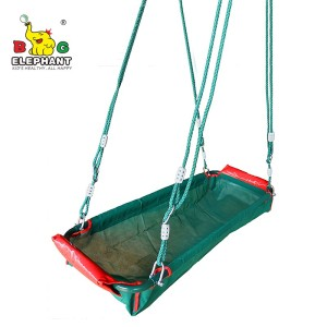 Hot Selling Multi-child Pirate Boat Bucket Basket Baby Bed Family Swing with PE Rope