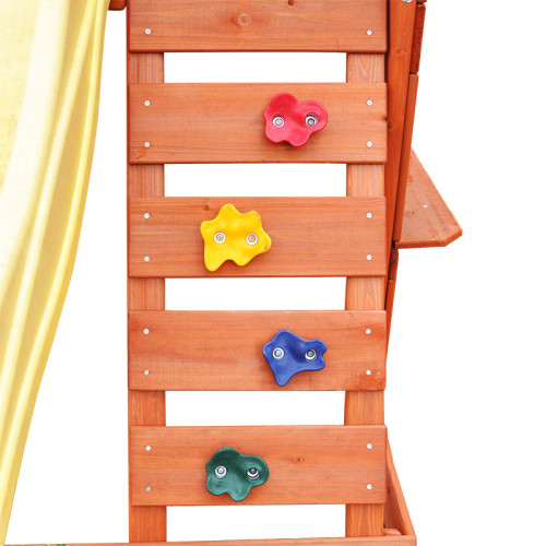Small Wooden Outdoor Playground Tower Fort Play Set for Kids