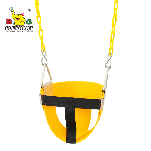 EVA Plastic Infant Half Bucket Swing with Chains