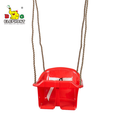 Plastic Low Back toddler bucket Swing Chair with Hanging Rope