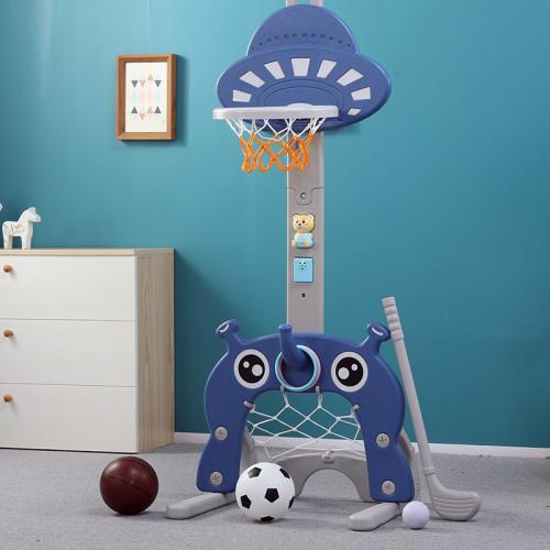 3-in-1 Toddler Basketball Hoop Sports Activity Center Grow