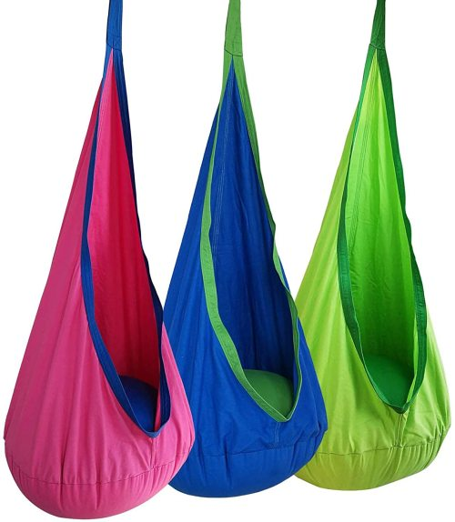 Kids Pod Swing Seat Child Hammock Chair for Indoor and Outdoor use