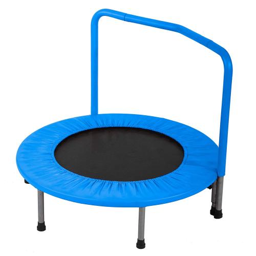 Kids Trampoline Little Trampoline with Adjustable Handrail and Safety Padded Cover