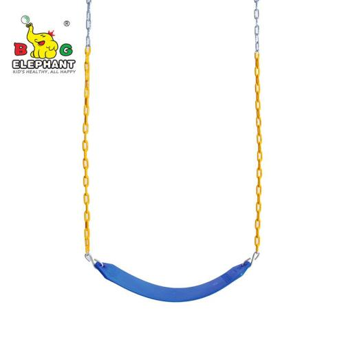 Heavy Duty Strap Swing Seat - Playground Swing Seat Replacement and Carabiners for Easy Install - blue