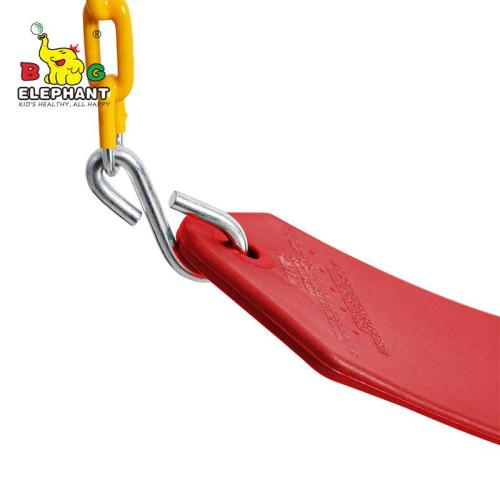 Heavy Duty Strap Swing Seat - Playground Swing Seat Replacement and Carabiners for Easy Install - Red
