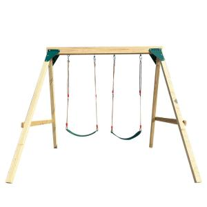 Heavy Duty Wooden Swing Set with Swing for Children