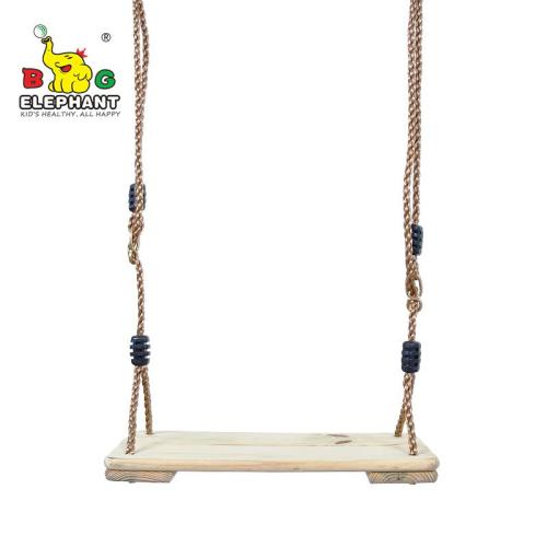 Wooden Swing, Hanging Wooden Tree Swings Seat Adjustable 48 to 83 Inches Cable, 220 lbs Capacity Birch Wood Durable, Sturdy Swings for Adult Kids Children Garden, Yard, Indoor Use