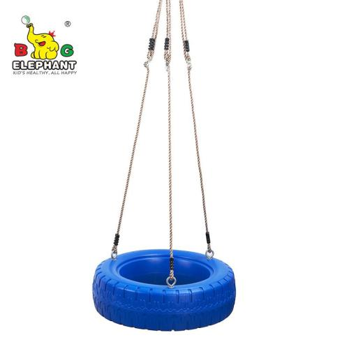 360° Turbo Tire Swing with ropes - Blue