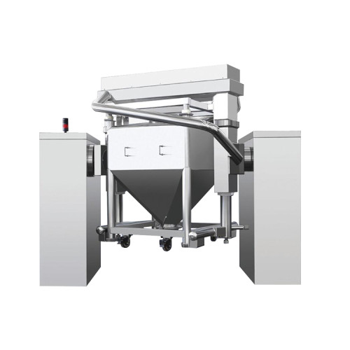 Pharmaceutical automatic rotating drum powder mixer
