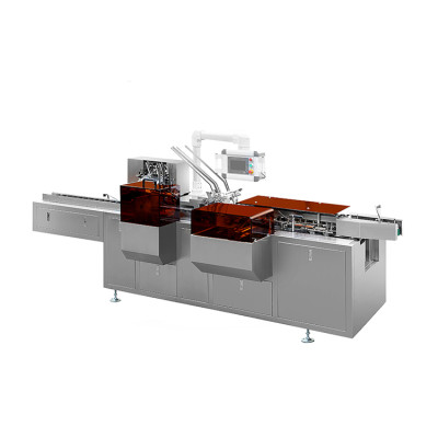 Automatic face mask packer gluer milk packaging carton box labeling Packaging making Machine