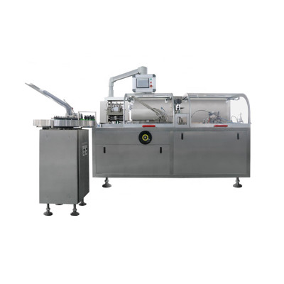 Fully automatic Condom Bottle Cartoning Box Packaging Machine Drugs Sachet Cartoning Packing Machinery