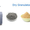 In the process of using the dry granulator, what is the matter of the large amount of dust produced?