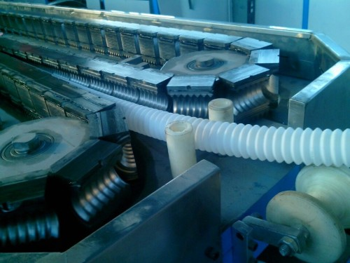 PVC / PA / PE // PP / EVA Máquina extrusora telescópica de tubos corrugados de plástico