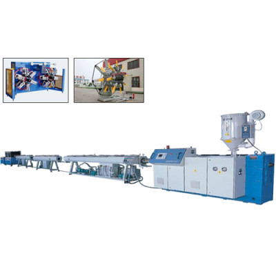 PP-R, PER-T Hot and Cold Water Pipe (one die double outputs), PEX Pipe Extrusion Machine