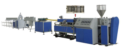 Machine d'extrusion de tuyaux en plastique ondulé précontraint en HDPE
