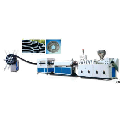 PE carbon spiral pipe extrusion machine