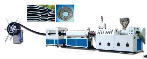 Máquina extrusora de tubos en espiral de carbono PE
