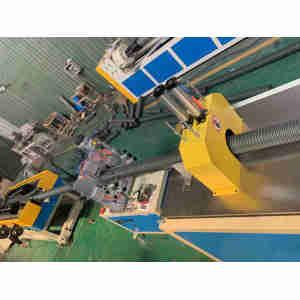 HDPE plastic seepage pipe extrusion machine-Zhongkaida Plastic Machinery