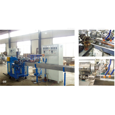 PP/PU steel wire-winding ventilation pipe extrusion line
