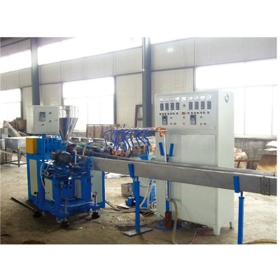 PVC plastic spiral rib reinforced pipe extrusion line