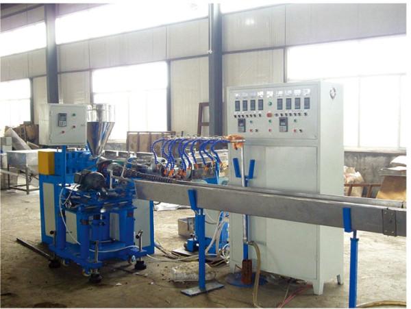 PVC plastic spiral rib reinforced pipe extrusion machine-Zhongkaida Plastic Machinery