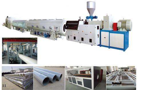 Línea de extrusión de tubos de plástico de PVC / CPVC