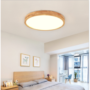 Wooded ceiling light