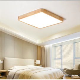 Wooden  ceiling light , Square shape