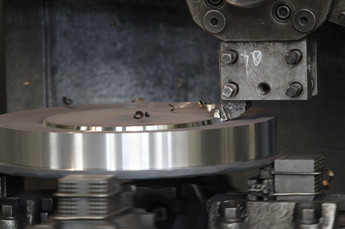 Machining the flange