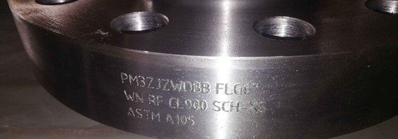 marks on A105 flanges