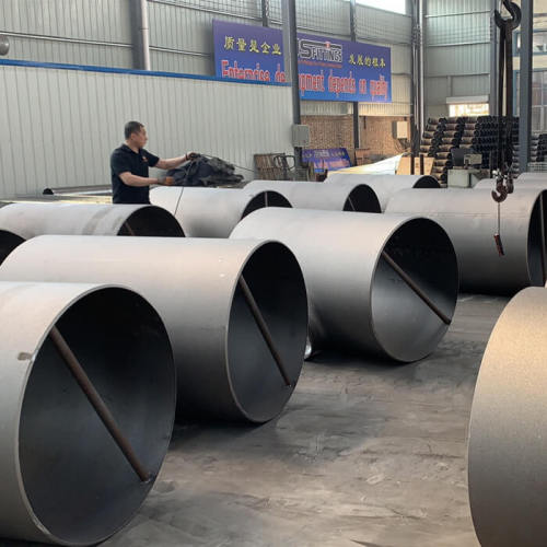 Customized 45 degree reducing  literal pipe Tees butt weld pipe fittings