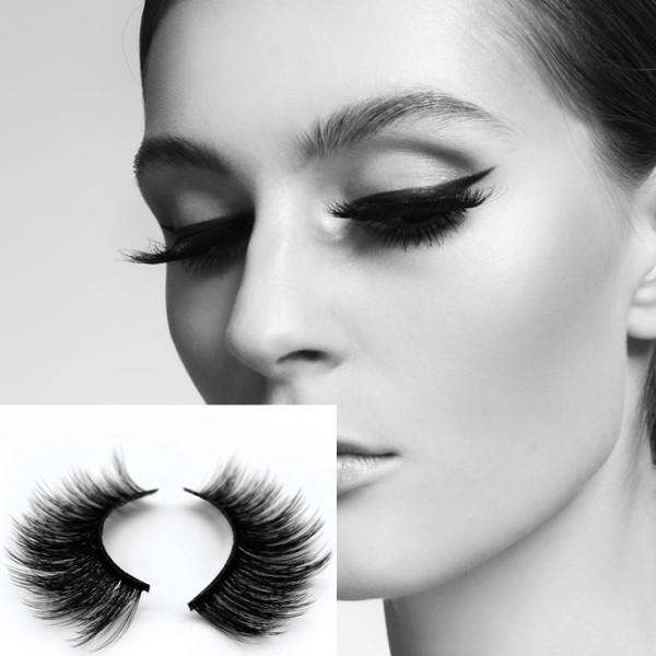Factory wholesale new style eyelashes natural thick European and American 3D imitation mink false eyelashes