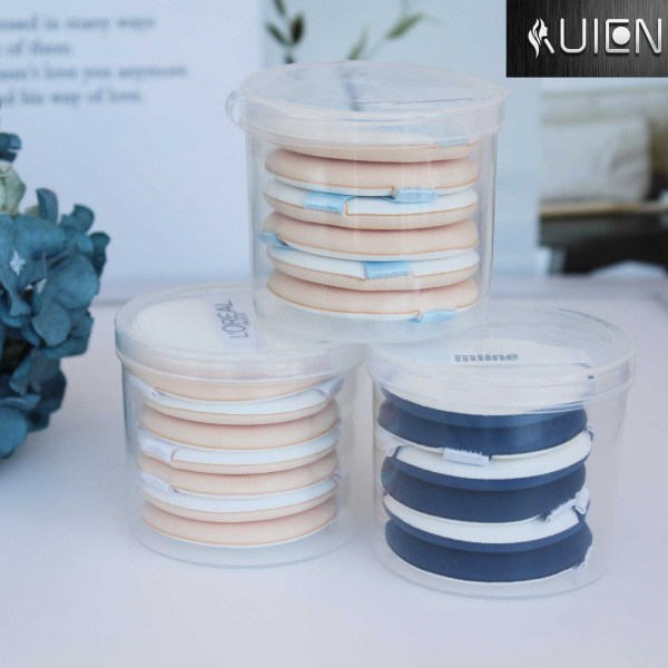 free sample power girls pins and nice price makeup powder remover air cushion puff