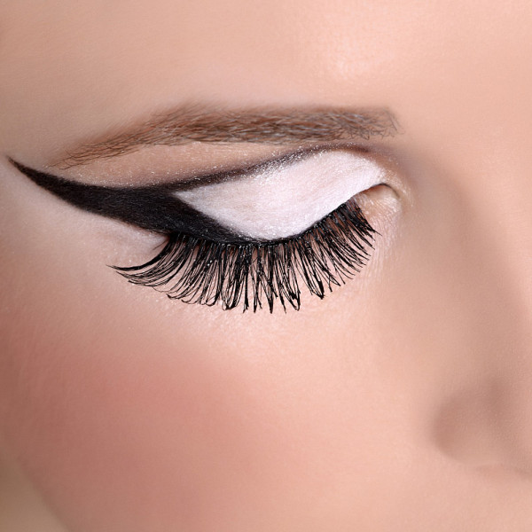Thick European big fake eyelashes and American style 3D three-dimensional false eyelashes simulation natural thick combination