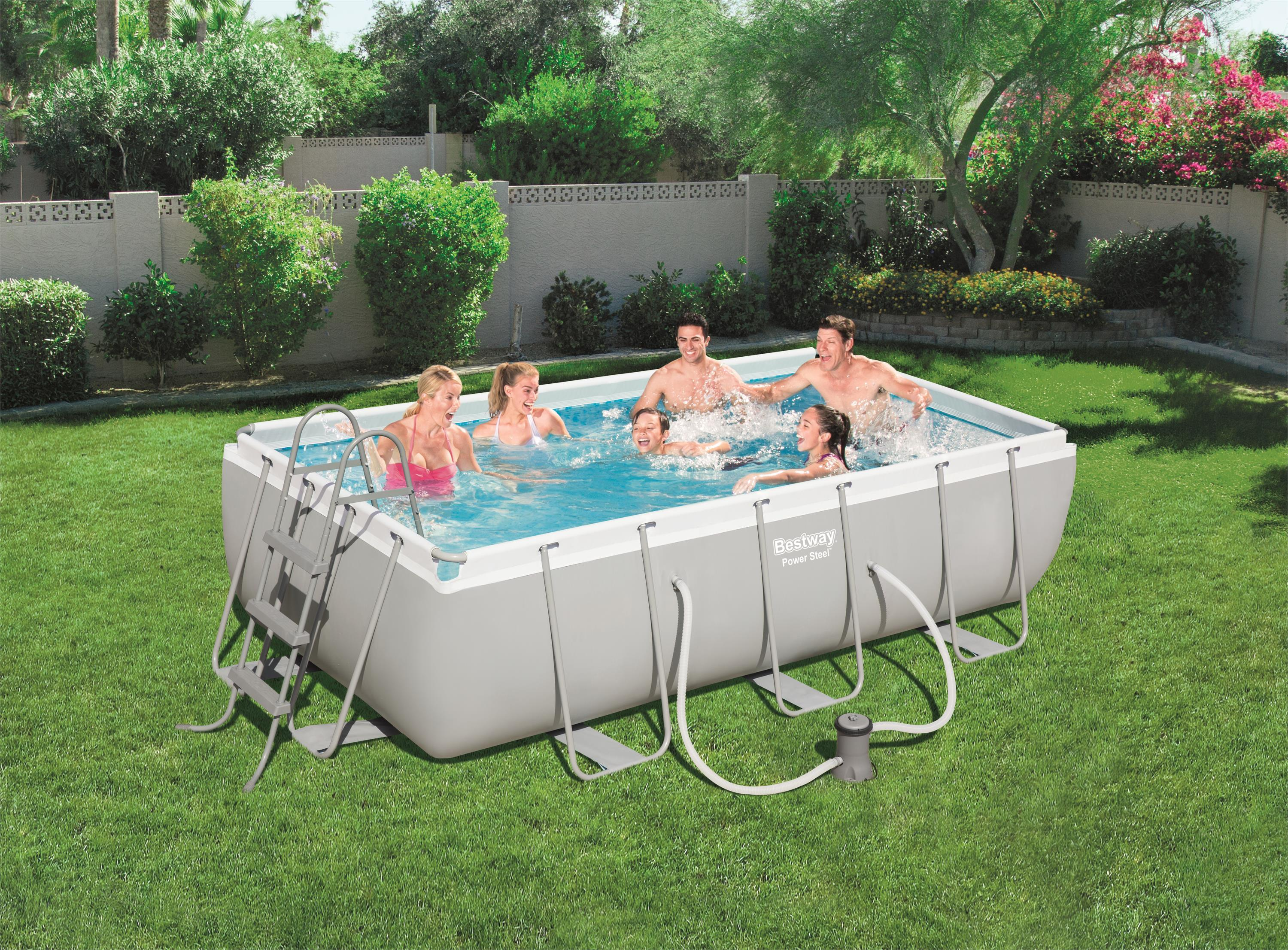 Rectangular bracket pool set