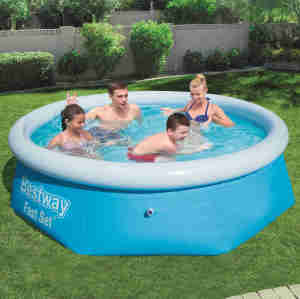 Top ring inflatable pool